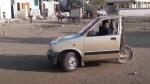 ಮೂರು ಚಕ್ರದ ಆಟೋ ರೀತಿಯಲ್ಲಿ ಮಾಡಿಫೈಗೊಂಡ ಮಾರುತಿ 800 ಕಾರು
