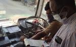 ಫೇಸ್ಮಾಸ್ಕ್ ಧರಿಸದ ಕಾರಣಕ್ಕೆ ದಂಡ ತೆತ್ತ ಸರ್ಕಾರಿ ಬಸ್ ಚಾಲಕ