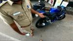 ಬೈಕಿನ ಮಡ್ ಗಾರ್ಡ್ ತೆಗೆದು ಹಾಕಿದ ಯುವಕನಿಗೆ ದಂಡ ವಿಧಿಸಿದ ಸಾರಿಗೆ ಇಲಾಖೆ