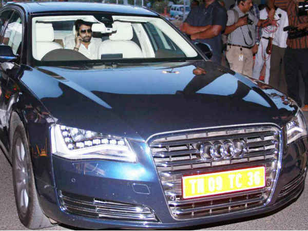 Abhishek Bachchan Sighted In His New Audi A8 L