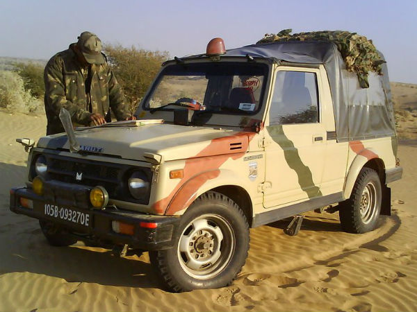 Maruti Gypsy To Be Phased Out By Indian Army