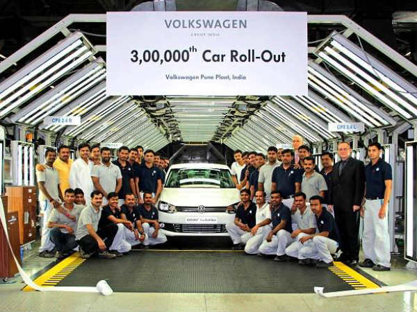 Volkswagen Produces 3,00,000th Car At Pune Plant