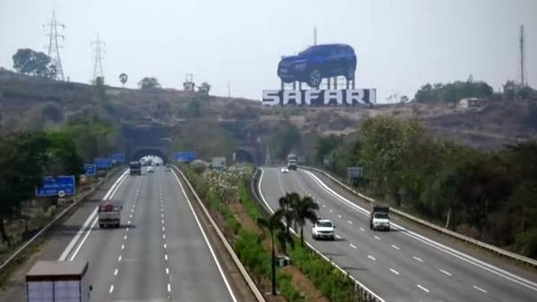 ಸಫಾರಿ ಕಾರಿನ ಅತಿದೊಡ್ಡ ಜಾಹೀರಾತು ಫಲಕ ನಿರ್ಮಿಸಿದ ಟಾಟಾ ಮೋಟಾರ್ಸ್
