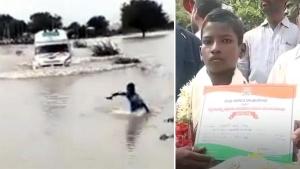 ಆಂಬ್ಯುಲೆನ್ಸ್ ಗೆ ದಾರಿ ತೋರಿಸಿ ಶೌರ್ಯ ಪ್ರಶಸ್ತಿ ಪಡೆದ 12 ವರ್ಷದ ಬಾಲಕ